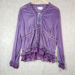 Sheer Sequence Blouse